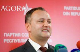 Dodon, candidatul Moscovei, este noul presedinte al Moldovei